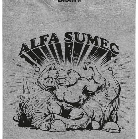 Alfasumec - šedé pánské tričko