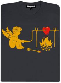 Amorek a srdce - šsdé dámské tričko s potiskem