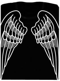 Andělská křídla na zádech - tričko s potiskem