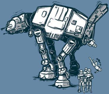 AT-AT vysazuje Stormtroopery