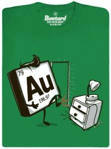 Au - zlato se koplo do prstu - zelené pánské tričko