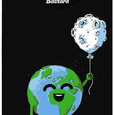 Země má měsíc jako balonek - černé dámské tričko