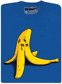 Banán zabiják a jeho statistika uklouznutí - modré tričko