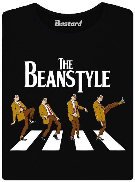 Mr. Bean na přechodu jako Beatles - černé dámské tričko