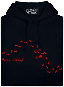 Černá pánská mikina s potiskem Beer effect