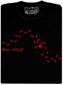Potisk na tričku ukazuje Vaši trasu domů po pár pětipivech