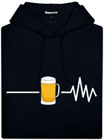 Černá pánská mikina s potiskem Beer help