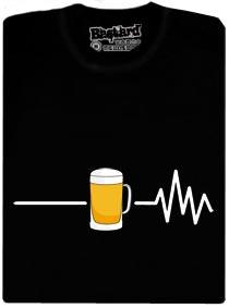 Tričko s potiskem piva a srdečního tepu