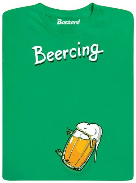 Beercing - beer piercing - zelené pánské tričko