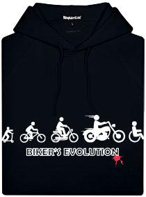Černá pánská mikina s potiskem Bikers evolution