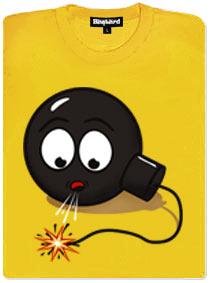 Bomba se snaží sfouknout zapálený knot
