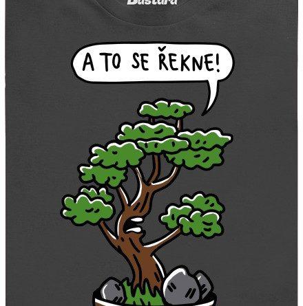 Bonzai - bonzovací bonsai - šedé pánské tričko