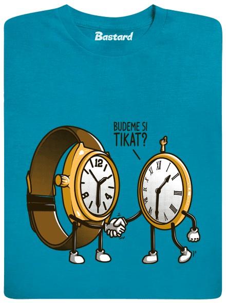Budeme si tikat? - modré pánské tričko