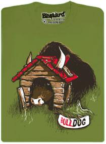 Bulldog - zelené pánské tričko s potiskem