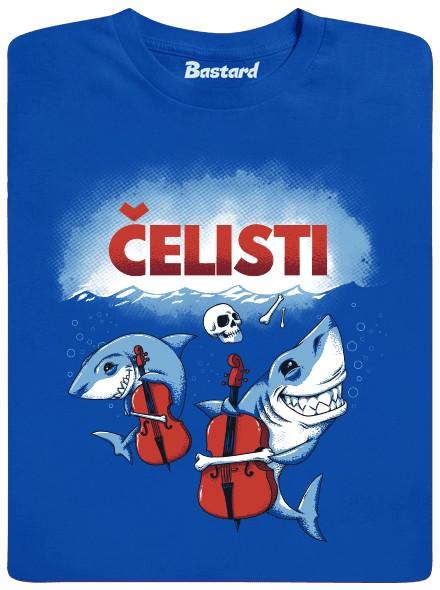 Čelisti - modré pánské tričko
