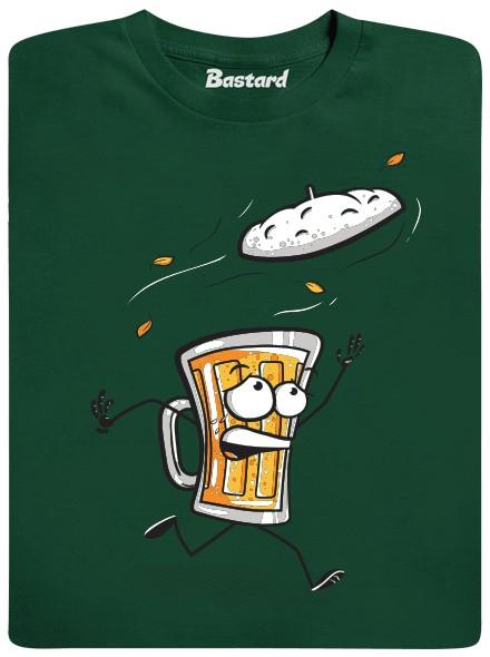Pivní čepice - zelené pánské tričko