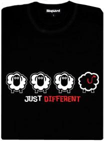 Černá ovce s ďábelským ocasem - černé dámské tričko
