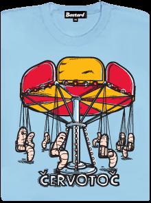 Červotoč - kolotoč s červama - tričko s potiskem