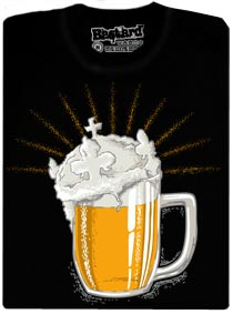 České zlato - pivo s korunou zářící na všechny strany