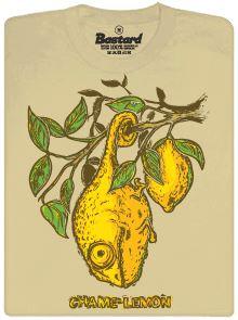 Chamelemon - světle hnědé pánské tričko s potiskem