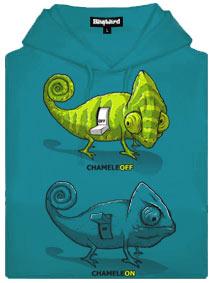 Modrá dámská mikina s potiskem Chameleon chameleoff