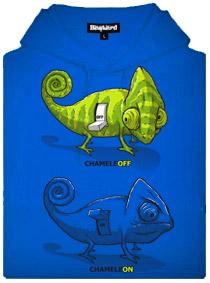 Chameleon chameleoff - modrá pánská mikina