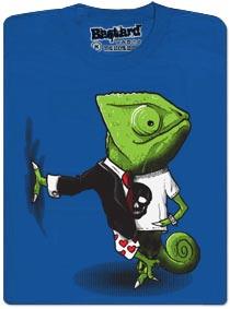Chameleon - mistr převleků - modré tričko s potiskem