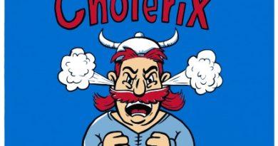 Cholerix - modré dámské tričko