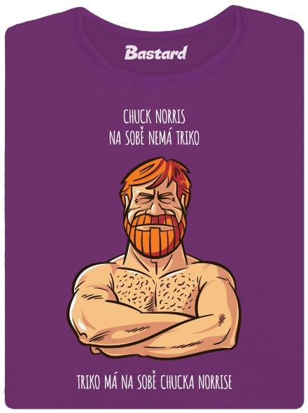 Tričko s Chuckem Norrisem - fialové dámské tričko