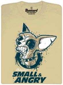 Chihuahua - small & angry - béžové pánské tričko
