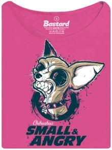 Čivava - small and agry - růžové dámské tričko