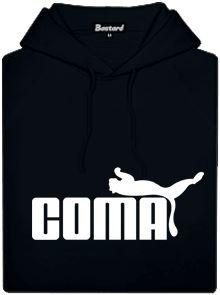 Coma - černá pánská mikina s potiskem