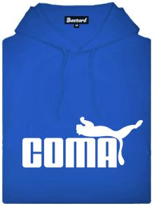 Coma - modrá pánská mikina s potiskem