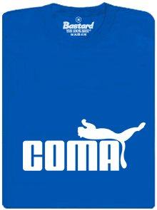 Coma - modré pánské trikčko s potiskem