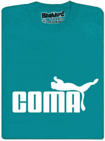 Tričko s potiskem Coma - modré