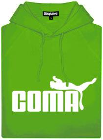 Zelená pánská mikina s potiskem Coma