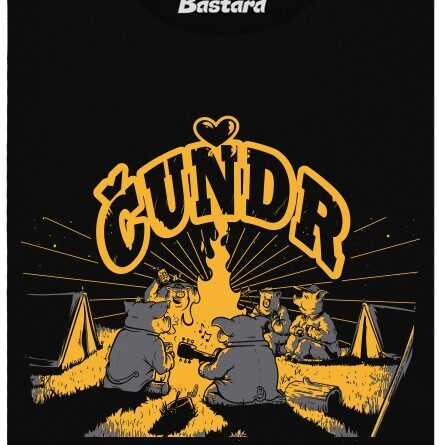 Čuňdr - černé dámské tričko