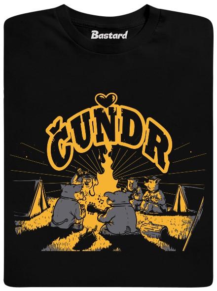 Čuňata na čundru - černé pánské tričko