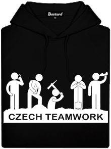 Czech teamwork - černá pánská mikina s potiskem