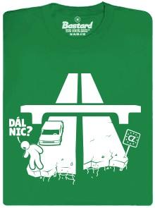 Dál nic? České dálnice - zelené pánské tričko