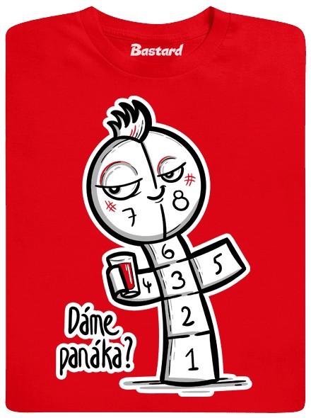 Panák je nejlepší zábava - červené pánské tričko