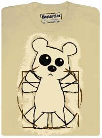 Da Vinci teddy (medvídek) a jeho proporce postavy (Vitruvius)