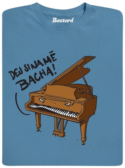 Dej si na piano Bacha - modré pánské tričko