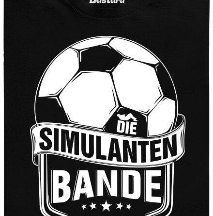 Die Simulanten bande - černé pánské tričko