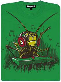 DJ cvrček - zelené dámské tričko s potiskem