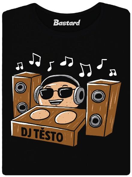 DJ Těsto - černé BIO dámské tričko