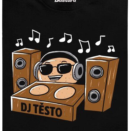 DJ Těsto - černé pánské tričko