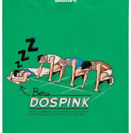 Dospink - zelené pánské tričko