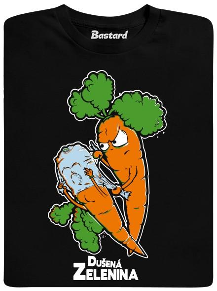 Mrkev dusí mrkvici - černé pánské tričko