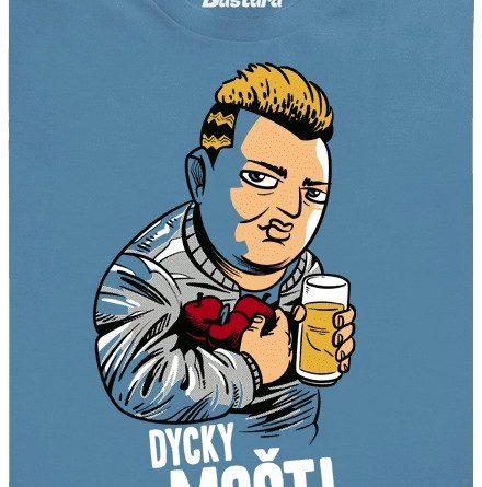 Dycky mošt! - modré pánské tričko